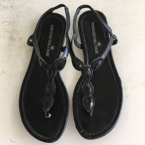 Black Slip Ons Sandals